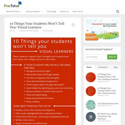 10 Things Your Students Won't Tell You: Visual Learners - Practutor Blog