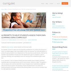 10 Prompts to Help Students Assess Their Own Learning Using Curriculet - Curriculet