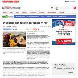 Students get lesson in 'going viral' - Statesville.com: News