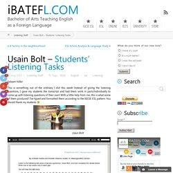 Usain Bolt – Students' Listening Tasks ← iBATEFL.COM