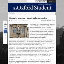Students wear red in matriculation protest - The Oxford Student
