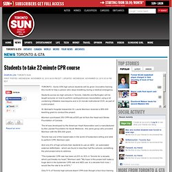 Students to take 22-minute CPR course