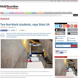 Too few black students, says Stats SA