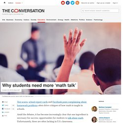 Why students need more 'math talk'