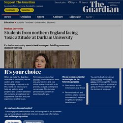 Students from northern England facing 'toxic attitude' at Durham University