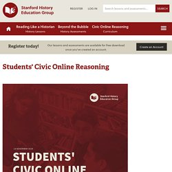 Students' Civic Online Reasoning