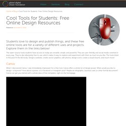 Cool Tools for Students: Free Online Design Resources