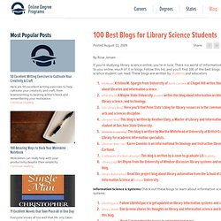 100 Best Blogs for Library Science Students