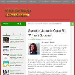 Students' Pandemic Journals Could Become Primary Sources
