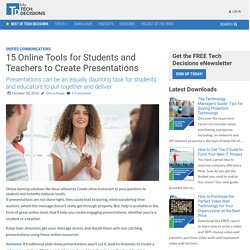 15 Online Tools for Students and Teachers to Create Presentations