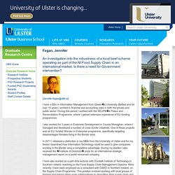 PhD Students Profile - Ulster Business School