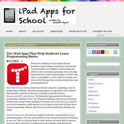 Five iPad Apps That Help Students Learn Programming Basics