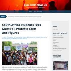 South Africa Students Fees Must Fall Protests Facts and Figures