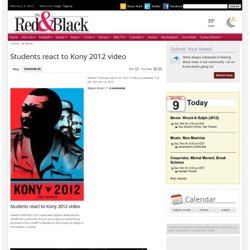 Students react to Kony 2012 video