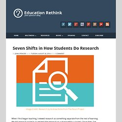 Seven Shifts in How Students Do Research - Education Rethink