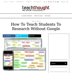 How To Teach Students To Research Without Google