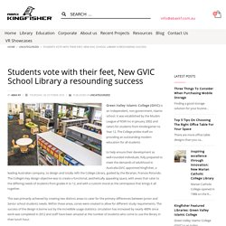 Students vote with their feet, New GVIC School Library a resounding success - Abax Kingfisher