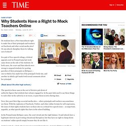 Why Students Have a Right to Mock Teachers Online