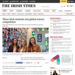 Three Irish students win global science competition