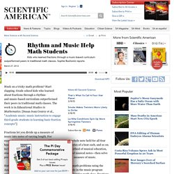 Rhythm and Music Help Math Students