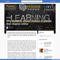 Why students should choose to pursue their degree online