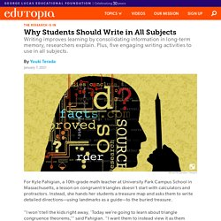 Why Students Should Write in All Subjects