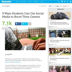 9 Ways Students Can Use Social Media to Boost Their Careers