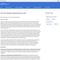 Do your students speak library-ese?