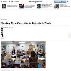 Students Speak Up in Class, Silently, via Social Media
