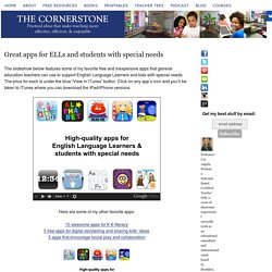 Great apps for ELLs and students with special needs