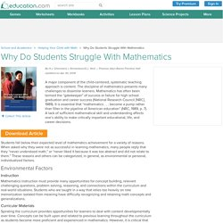 Why Do Students Struggle With Mathematics