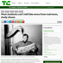 Most students can't tell fake news from real news, study shows