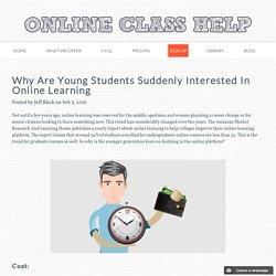 Why Are Young Students Suddenly Interested In Online Learning