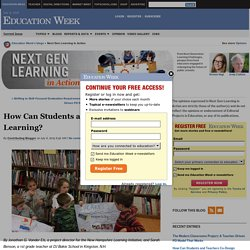 How Can Students and Teachers Co-Design Learning? - Next Gen Learning in Action
