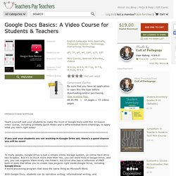 Google-Docs-Basics-A-Video-Course-for-Students-Teachers-2112819 Teaching Resources