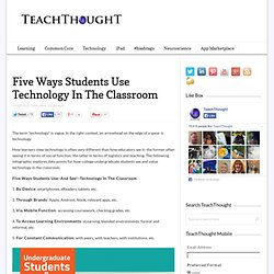 Five Ways Students Use Technology In The Classroom
