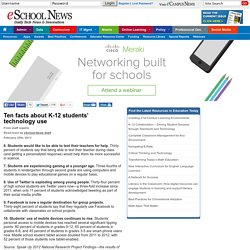 Ten facts about K-12 students' technology use
