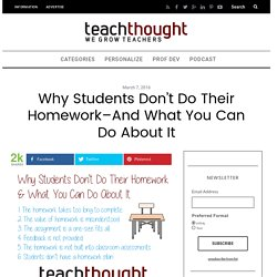 Why Students Don't Do Their Homework