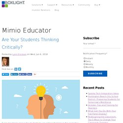 Are Your Students Thinking Critically?