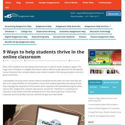 9 Ways to help students thrive in the online classroom