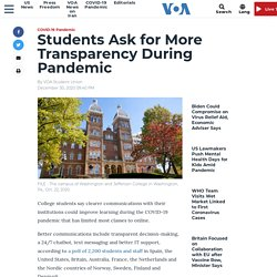 Students Ask for More Transparency During Pandemic