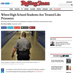When High School Students Are Treated Like Prisoners