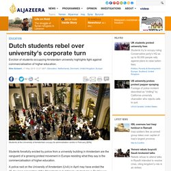 Dutch students rebel over university's corporate turn