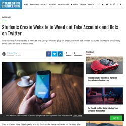 Students Create Website to Weed out Fake Accounts and Bots on Twitter