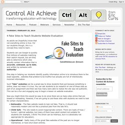 4 Fake Sites to Teach Students Website Evaluation