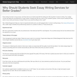 Why Should Students Seek Essay Writing Services for Better Grades?