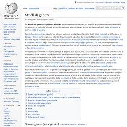 Studi di genere
