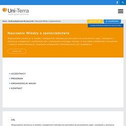 Studia podyplomowe wiedza o społeczeństwie - Uni-Terra