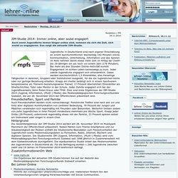 JIM-Studie 2014: Immer online, aber sozial engagiert