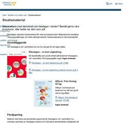 Studiematerial - Riksdagen